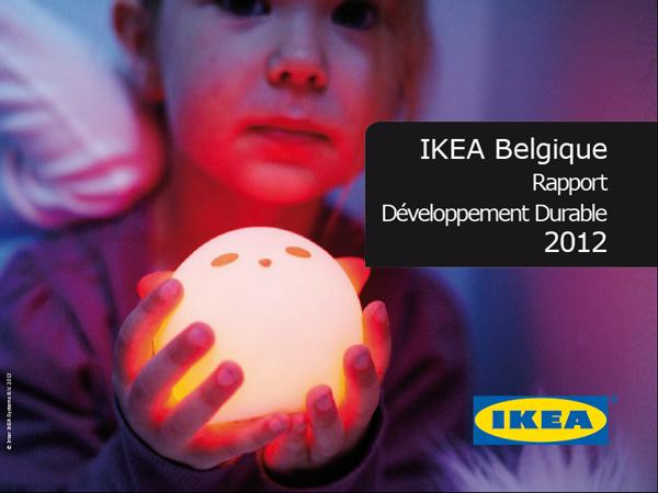 premier rapport de durabilit de ikea belgique. Black Bedroom Furniture Sets. Home Design Ideas