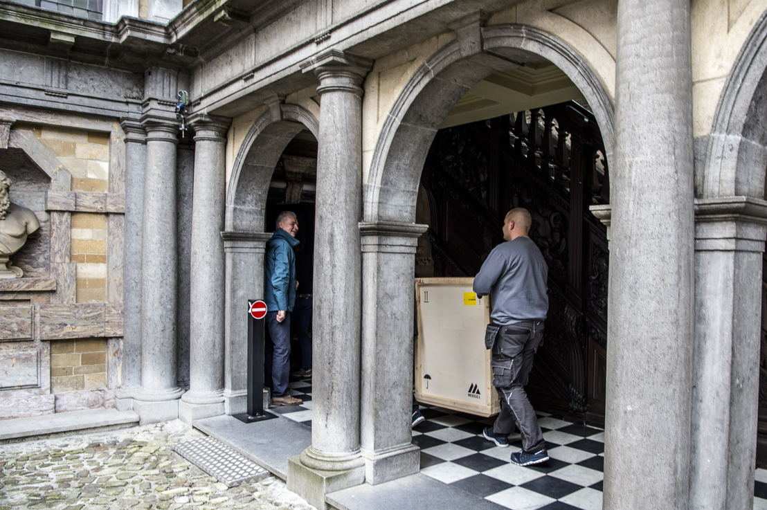 4_Terugkeer gerestaureerd Zelfportret Peter Paul Rubens naar Rubenshuis Antwerpen,opname 13 april 2018, foto Sigrid Spinnox