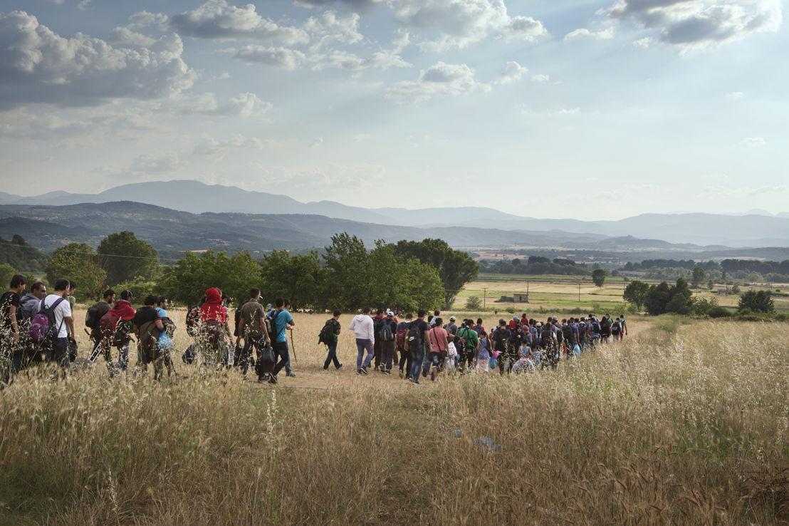 © Alessandro Penso<br/>150 réfugiés syriens sont en marche vers la frontière entre la Grèce et la Macédoine. Ils ont fui la guerre sévissant dans leur pays. Malheureusement, en Europe ils n'ont pas reçu un accueil chaleureux.