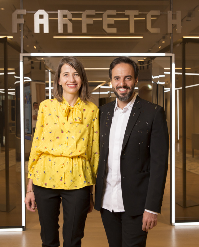 Jose Neves & Sandrine Deveaux (Managing Director of Store of The Future at Farfetch)