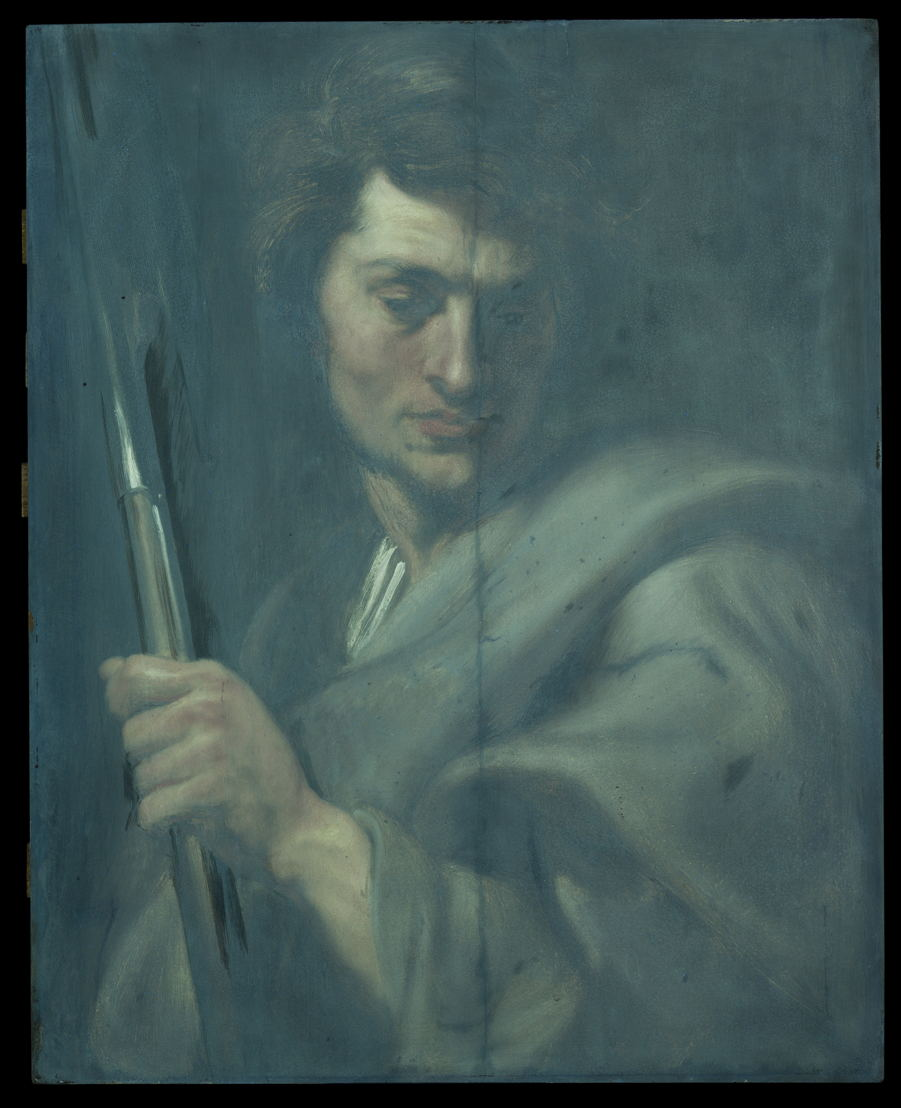Image name: 20_Anthony van Dyck, Saint Matthew, technical research, Rubens House, permanent loan by the King Baudouin Foundation, photo KIK IRPA Brussels.jpg