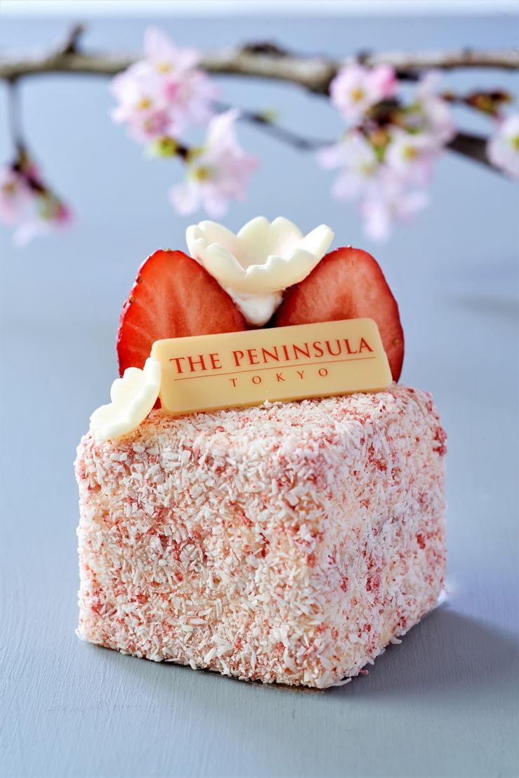 The Peninsula Tokyo: Sakura Strawberry Lamington