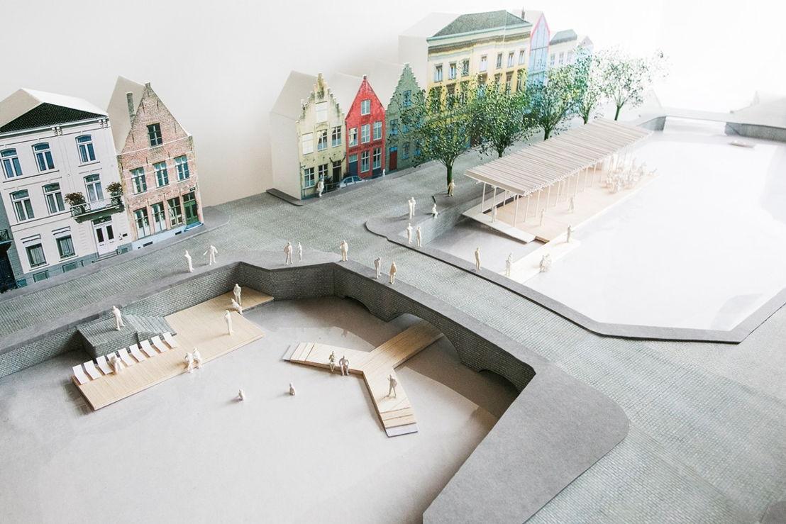 Maquette van het paviljoen dat Atelier Bow-Wow ontworpen heeft voor de Triënnale van Brugge - (c) Atelier Bow-Wow