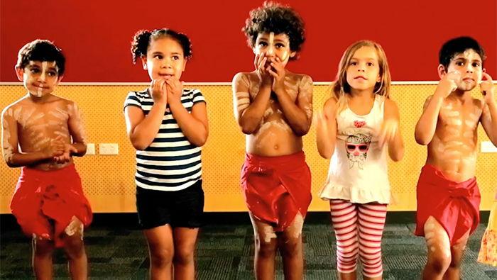 Yugambeh kids performing the song