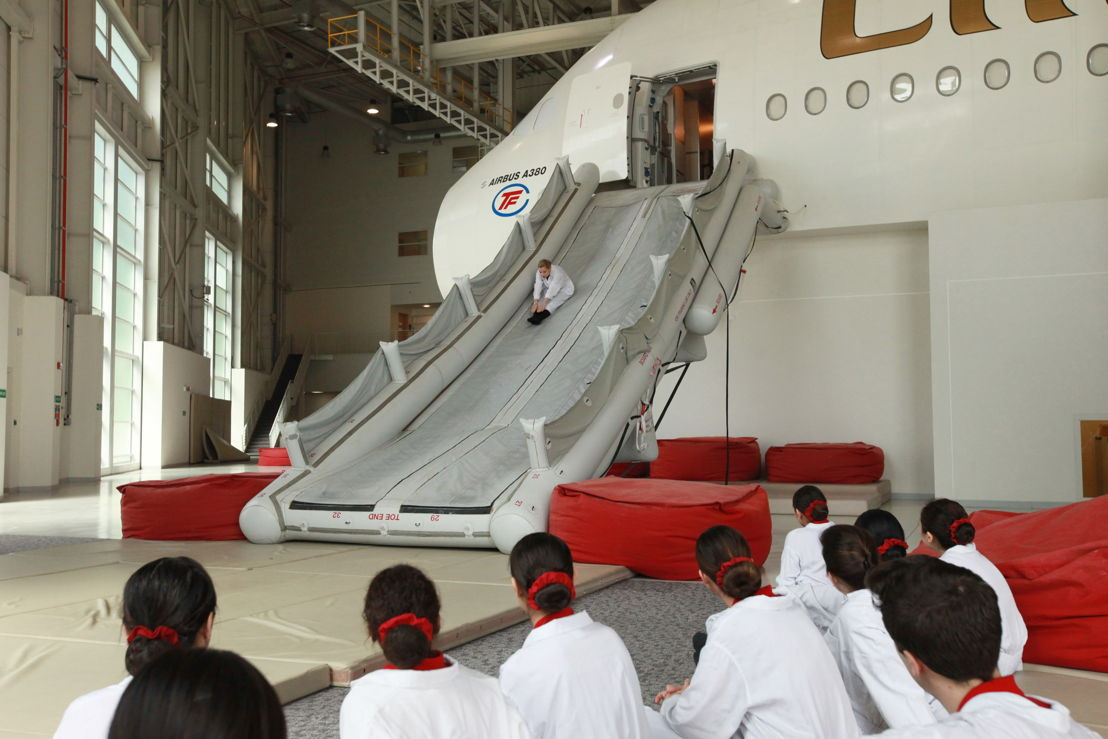 emirates cabin crew training has one of its busiest years rh emirates com Saudia Cabin Crew American Airlines Cabin Crew
