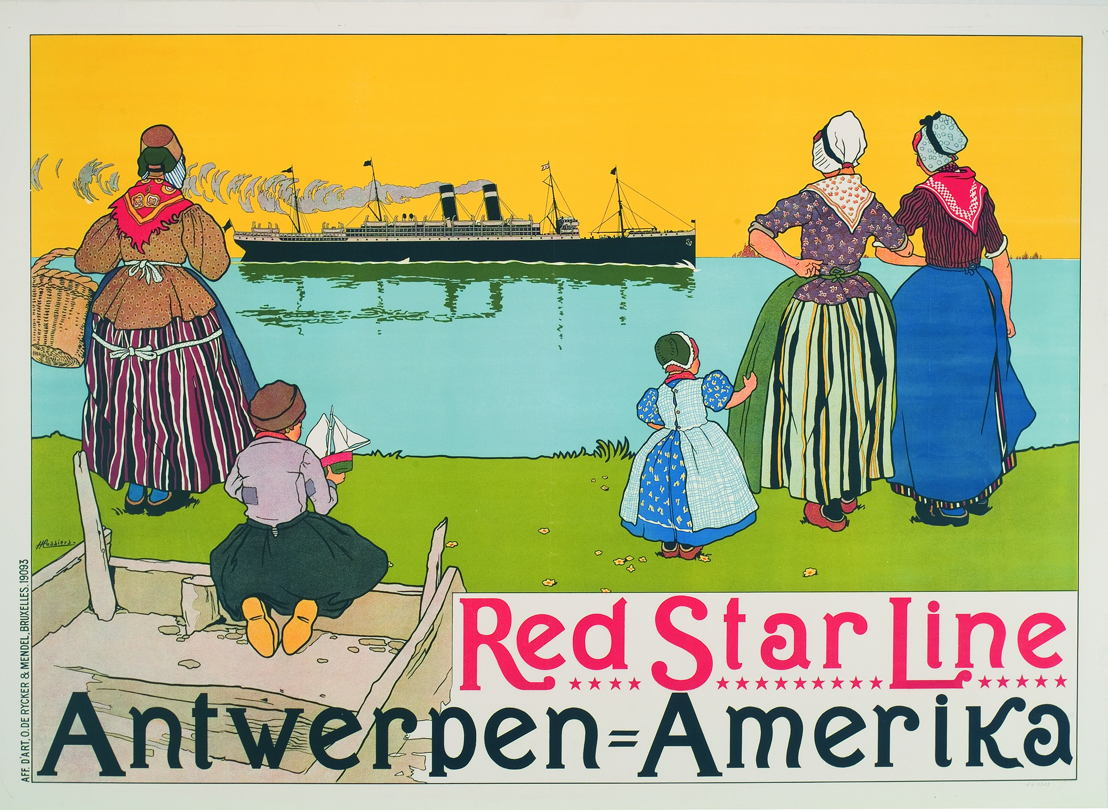 Henri Cassiers, affiche Red Star Line