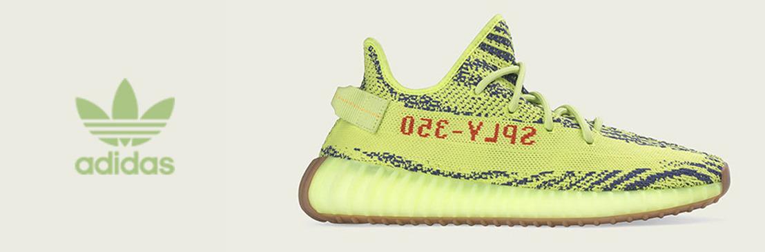 adidas Originals y KANYE WEST anuncian la llegada de YEEZY BOOST 350 V2 Semi Frozen en color Amarillo/Gris Acero/Rojo