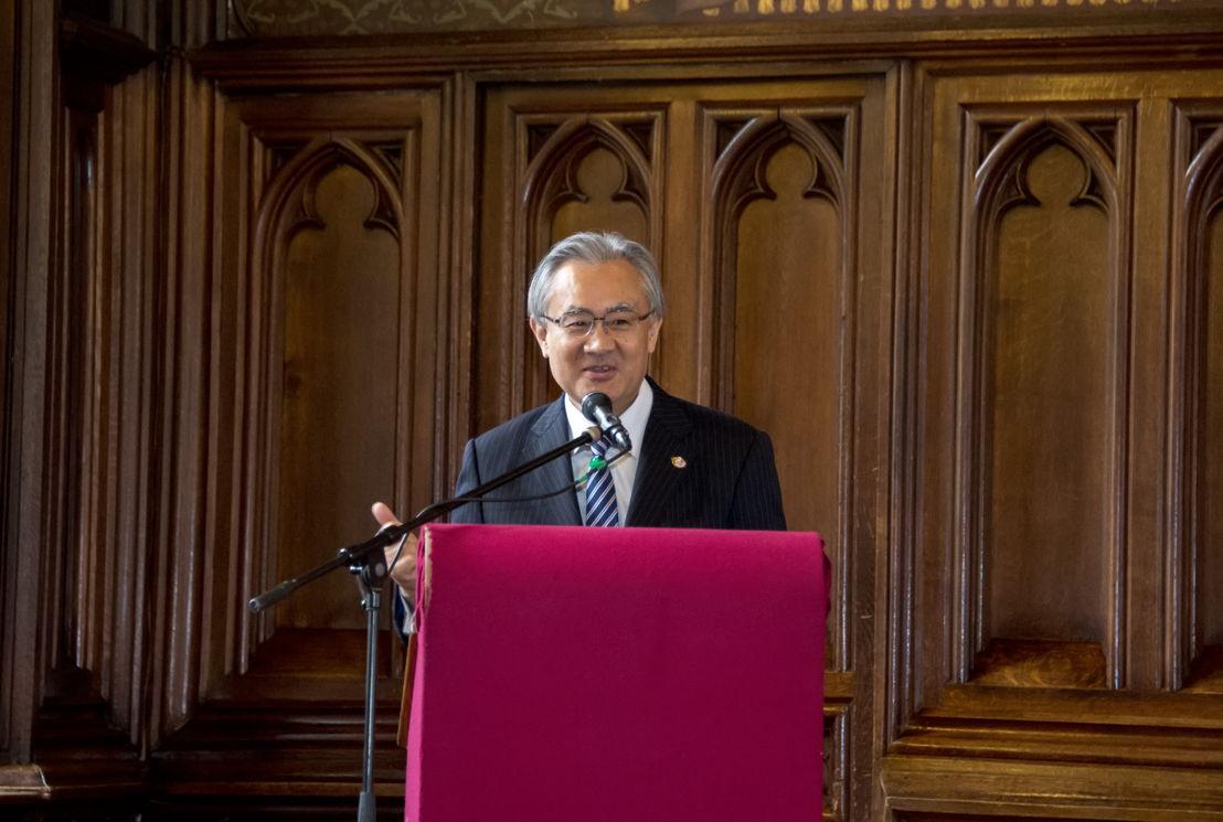 ©Wim Vanmaele - Masafumi Ishii, <br/>Ambassadeur du Japon en Belgique
