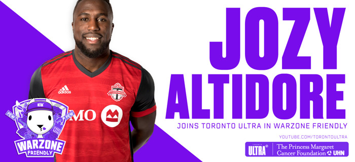 TORONTO FC'S JOZY ALTIDORE JOINS STELLAR LINEUP IN CALL OF DUTY ACTION