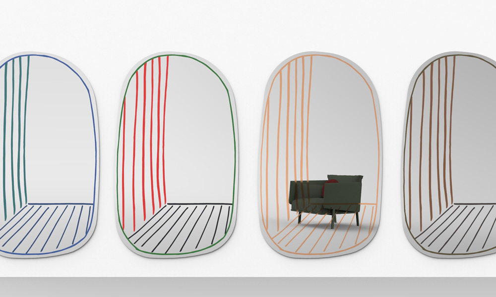 New Perspective, mirror by Alain Gilles for Bonaldo