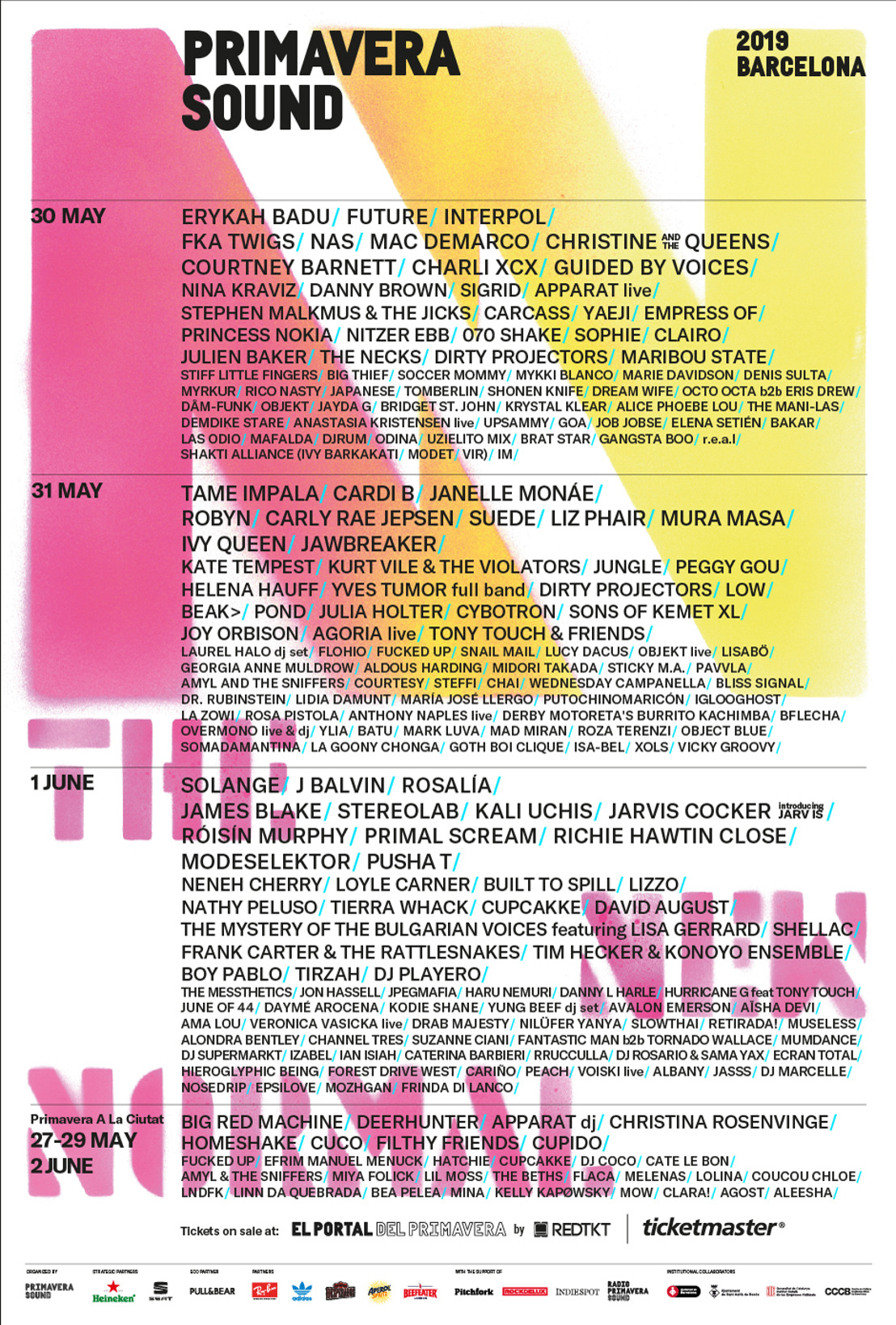 Equality, eclecticism and audacity in the revolutionary line up of Primavera Sound 2019