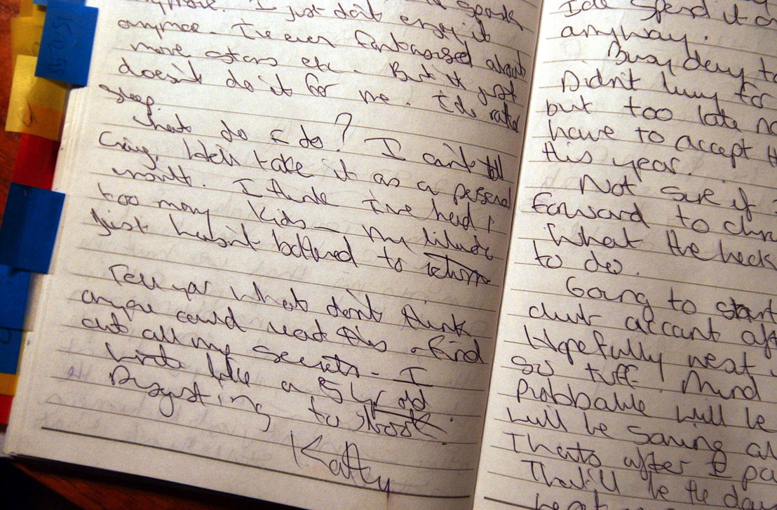 A section of Kathleen's Diary, Pic - AAP