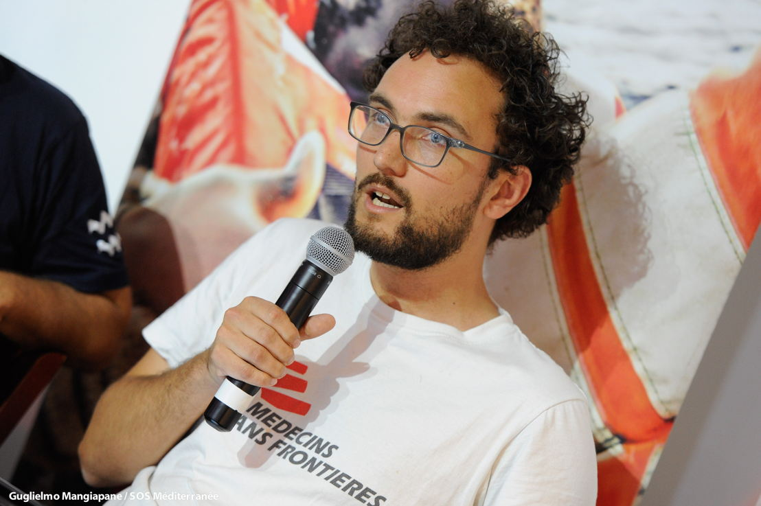 Aloys Vimard, MSF PC Aquarius on 30 June 2018, copyright Guglielmo Mangiapane/SOS MEDITERRANEE