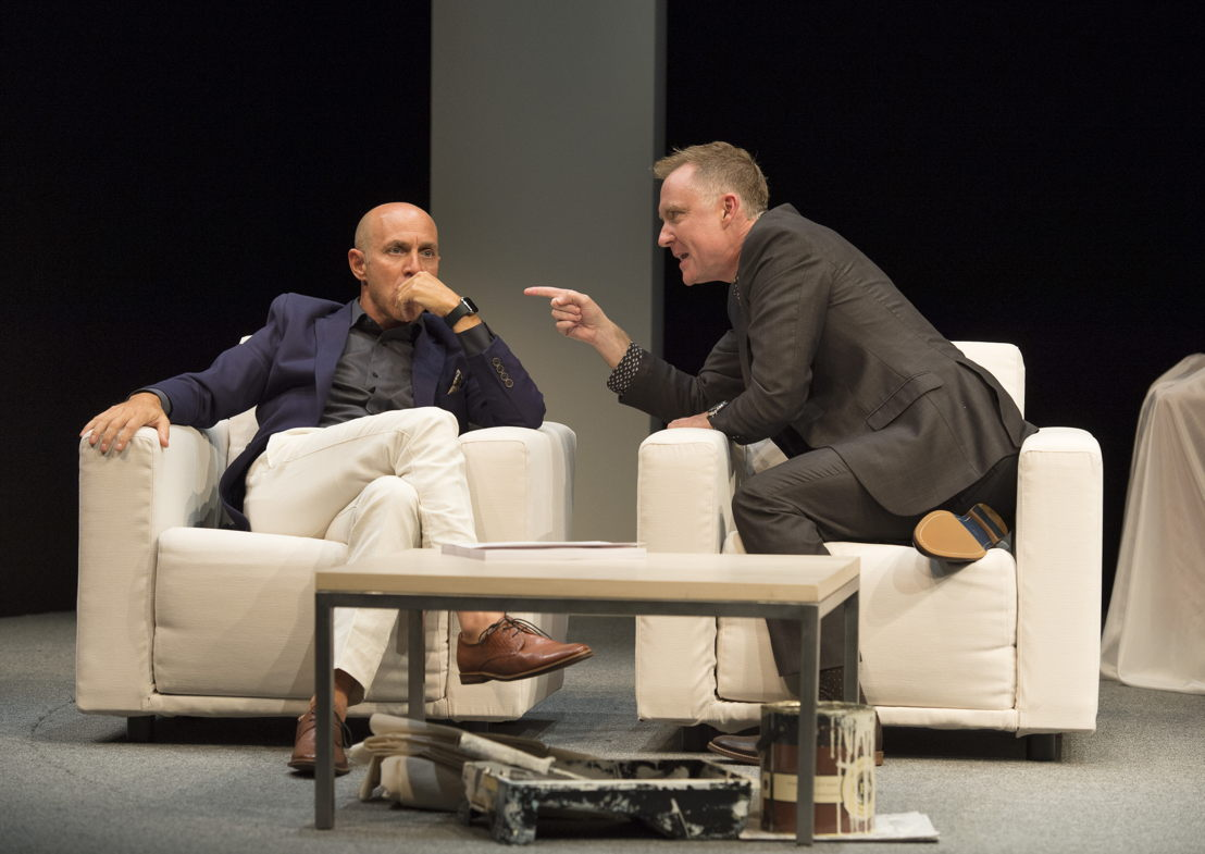 Brian Markinson and Vincent Gale in Speed-the-Plow / Photos by David Cooper