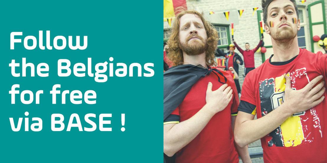 Allemaal supporter van de Belgen! BASE geeft gratis mobiel internet tijdens elke match van onze nationale ploeg!