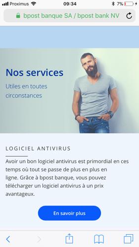Le site mobile de bpost banque est le meilleur des banques belges selon Google
