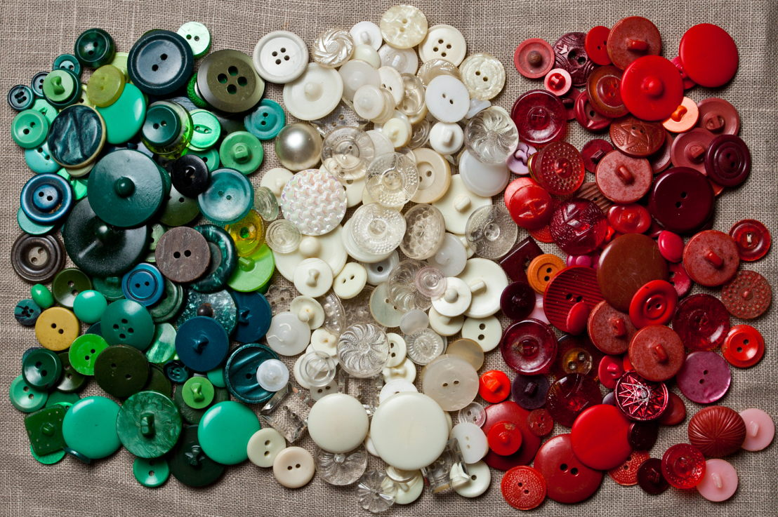 Match and sort buttons by size or color, count in groups of 2s, 5s