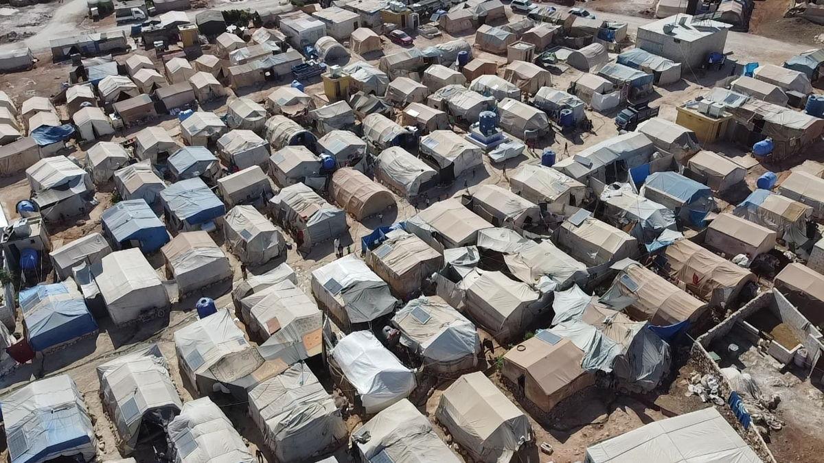 Campo de desplazados en el norte de Siria. Foto: Abdurzaq Alshami