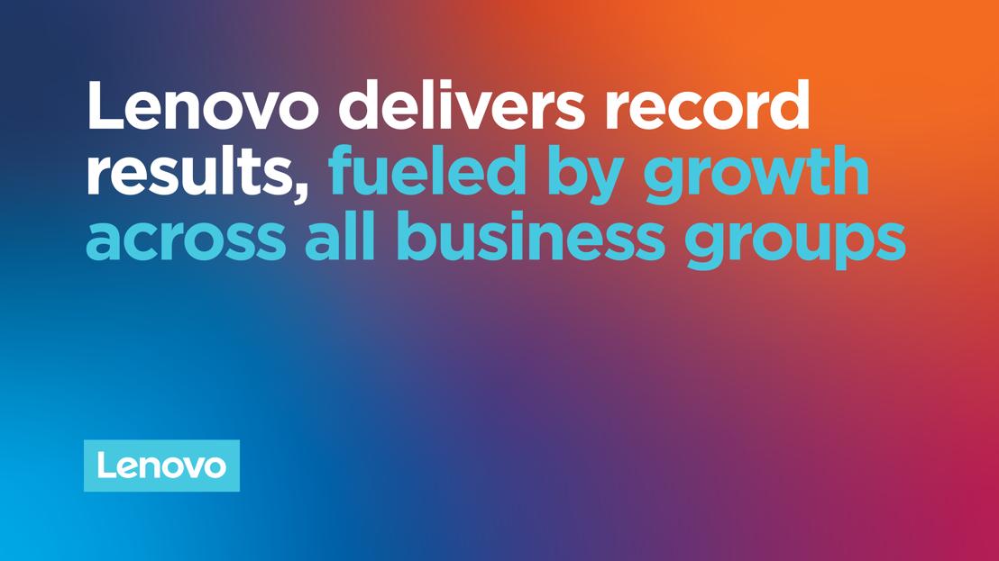 Lenovo a enregistré des résultats records, alimentés par une forte croissance dans tous les secteurs d'activité au cours du deuxième trimestre