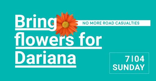 """Les habitants de Koekelberg déposent des fleurs dimanche à l'emplacement de l'accident de la route: """"Plus d'espoir pour la sécurité routière"""""""