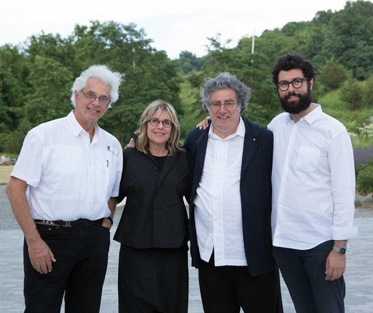 WSDG founding partner John Storyk (left) with Magazzino founders Nancy Olnick & Giorgio Spanu and Director Vittorio Calabrese