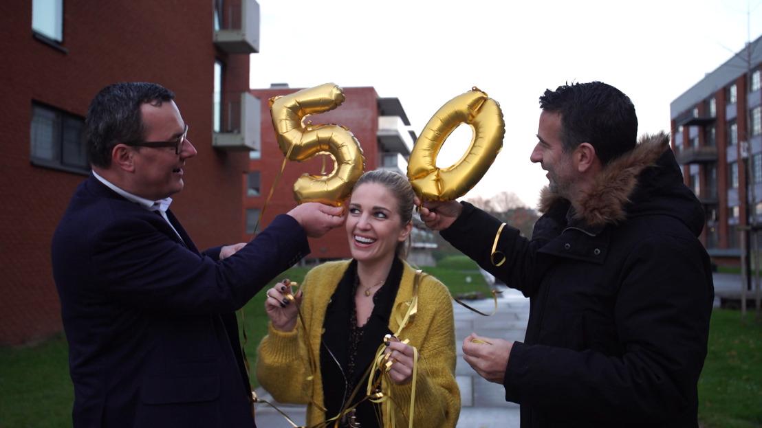 Eveline Hoste, Cisse Severeyns & Bert Van Poucke vieren 50ste uitzendweek Huizenjagers