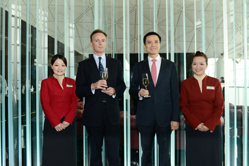Cathay Pacific completes First Class Lounge renovations at The Wing, the airline's flagship lounge in Hong Kong