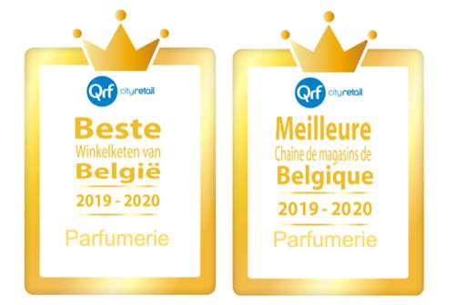 ICI PARIS XL herverkozen tot Beste Winkelketen & Webshop van België in de categorie parfumerie