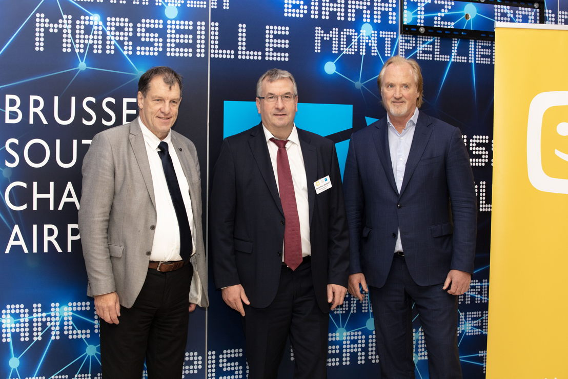 Jean-Jacques Cloquet (BSCA), John Porter (Telenet), Pierre-Yves Jeholet (Minister/Ministre) (photo credits: Catherine d'Eletto)