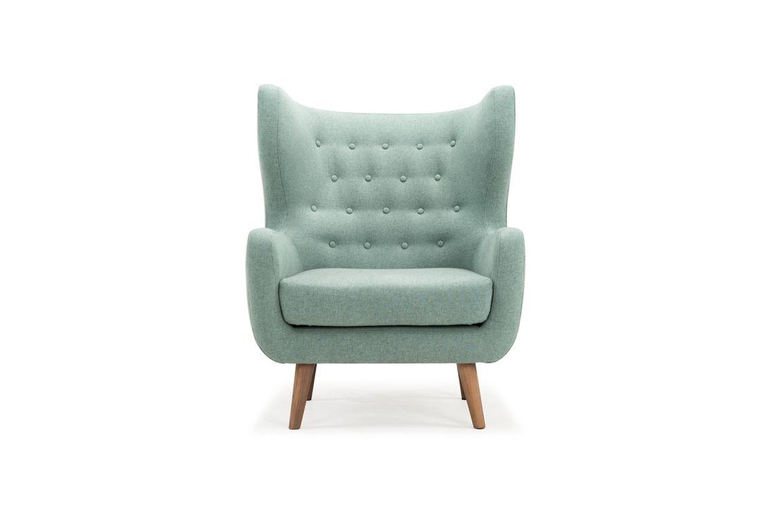 Craig, Chair, Sunday Pigeon Blue, Walnut Natural Legs