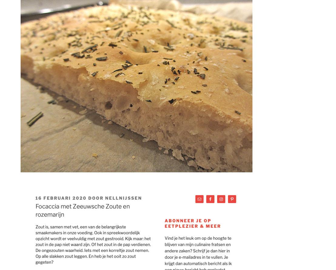 Eetplezier & Meer; Recept met Zeeuwsche Zoute