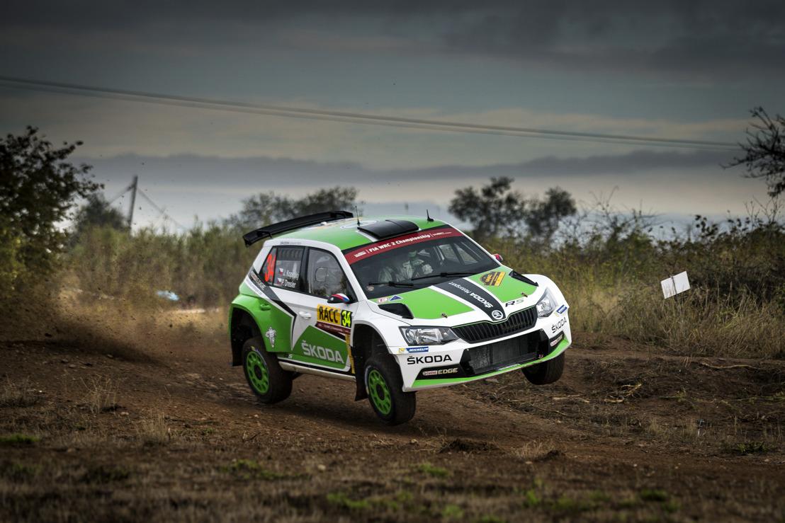 Tidemand ahead of Kopecký: One-two lead for ŠKODA Motorsport at the Rally Spain