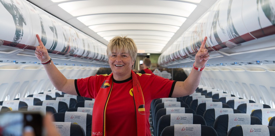 Brussels Airlines fan flights bring 750 Belgian football fans to Lyon