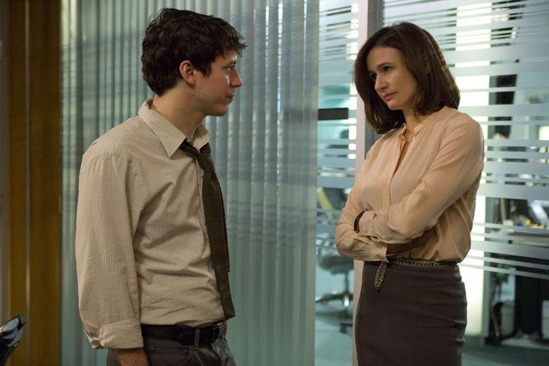 The Newsroom - John Gallagher jr. (Jim Harper) en Emily Mortimer (MacKenzie McHale)  - (c) VRT / HBO
