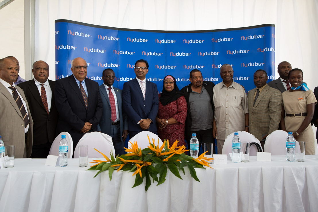 From the press conference held to mark flydubai's inaugural to Dar es Salaam