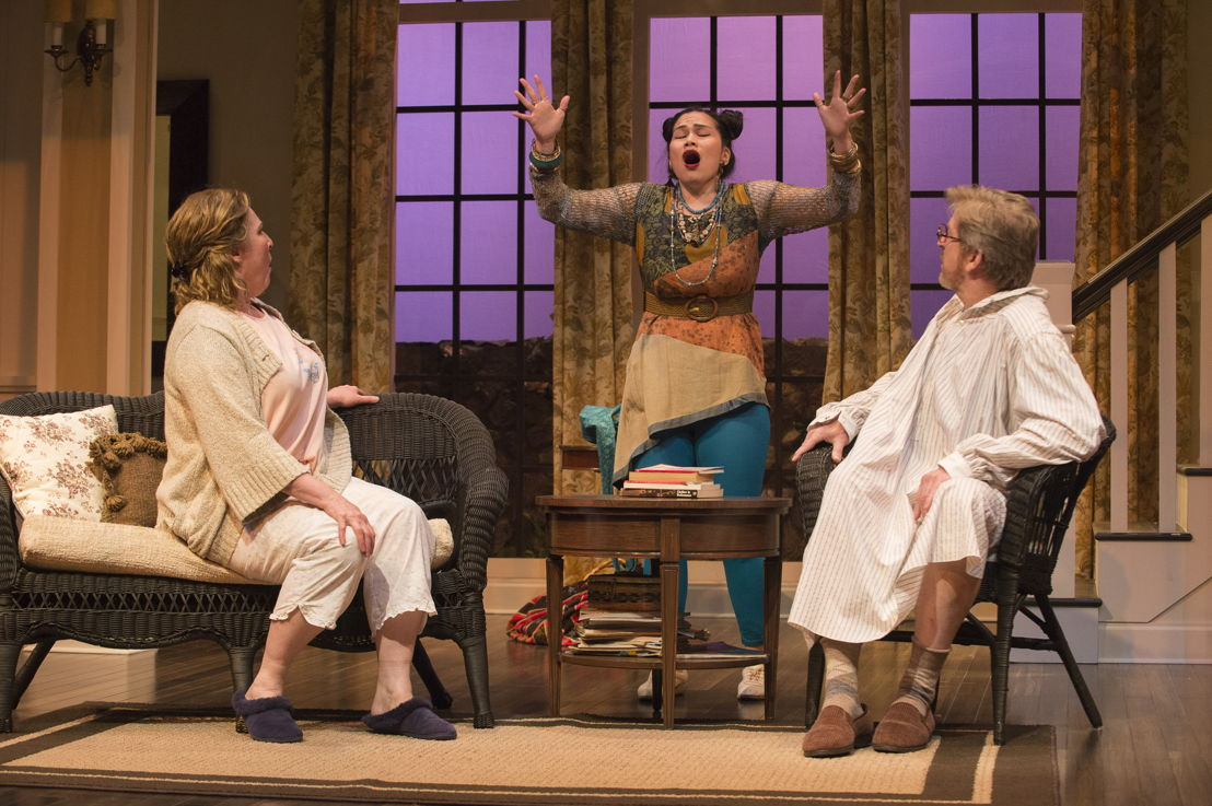 Deborah Williams, Carmela Sison and R.H. Thomson in Vanya and Sonia and Masha and Spike by Christopher Durang / Photos by David Cooper
