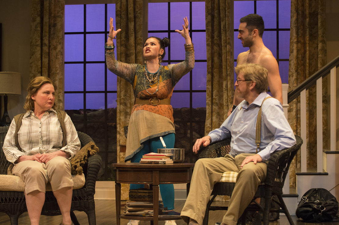 Deborah Williams, Carmela Sison, Lee Majdoub, and R.H. Thomson in Vanya and Sonia and Masha and Spike by Christopher Durang / Photos by David Cooper