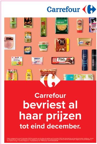 Carrefour bevriest de prijzen van meer dan 20.000 producten