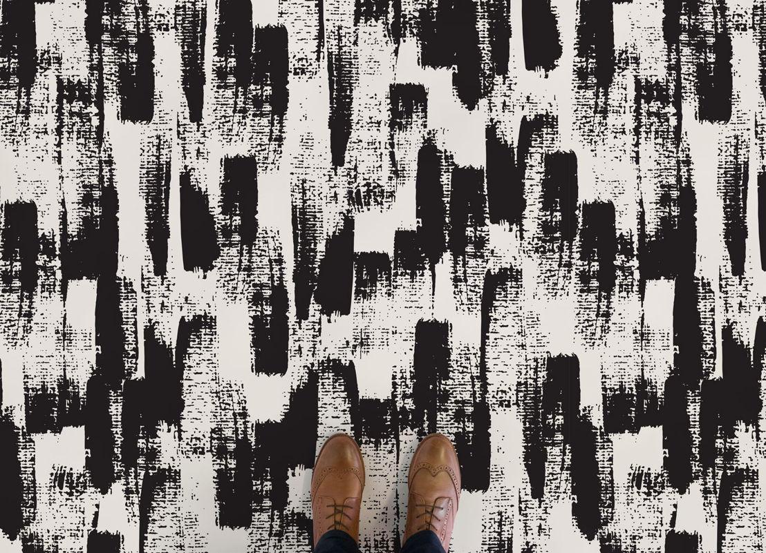 Sable | Black Painterly Vinyl Flooring