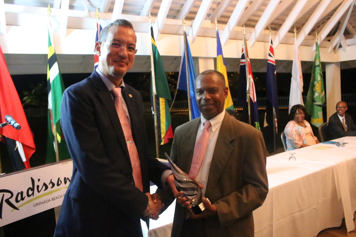 Hon Nickolas Steele, Minister of Health Grenada, previous chair 4th COMH, Mr Francis Burnett, Head OECS PPS