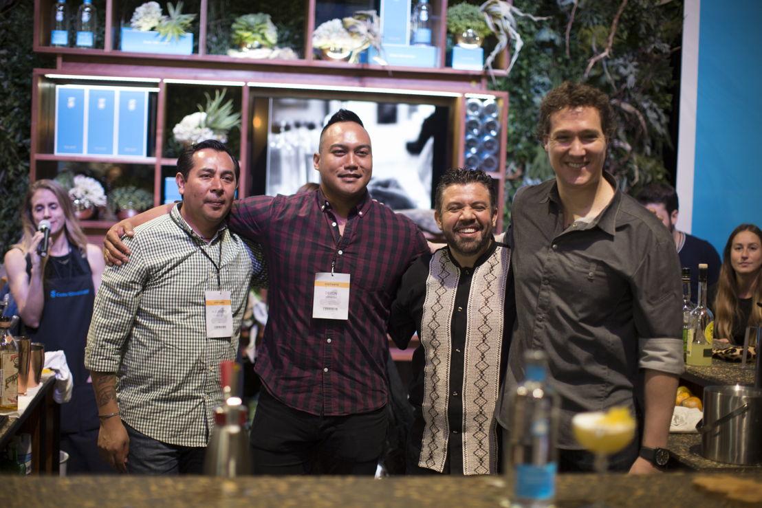Alejandro Blanco de Anatol, Devon Espinosa de Gusto, Oscar Torres de La No. 20 y Chef Vicente Torres de Garum