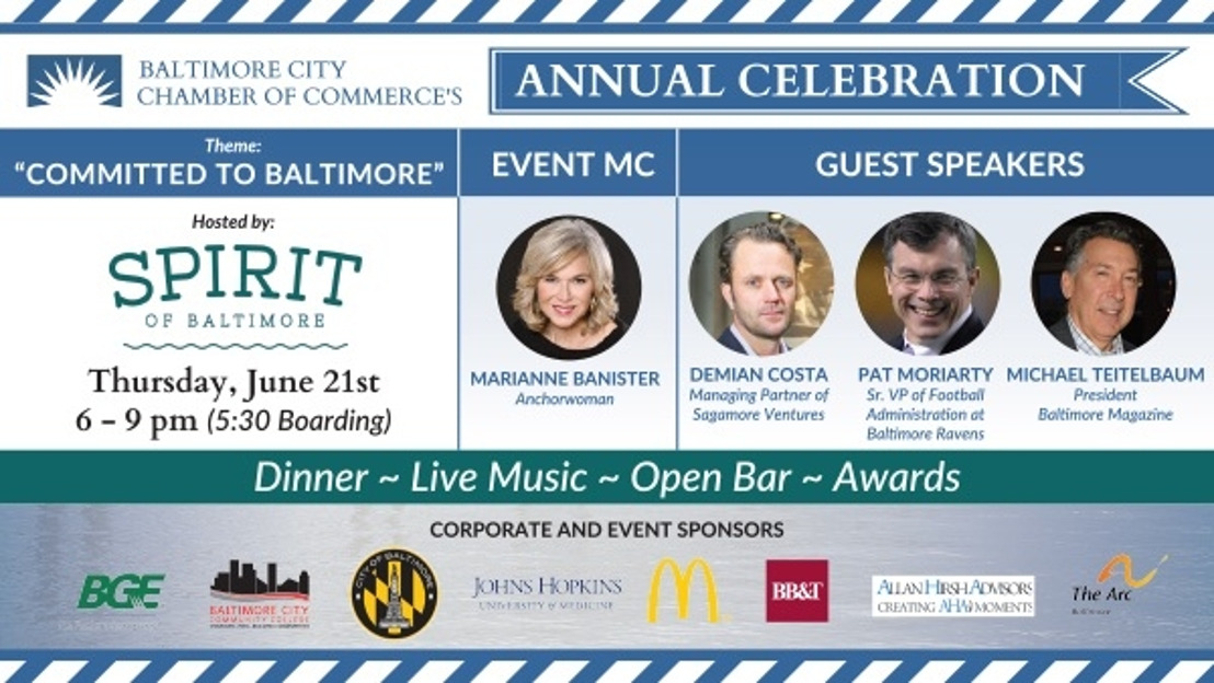 """Baltimore City Chamber of Commerce to Host 2018 Annual Meeting: """"Committed to Baltimore"""""""
