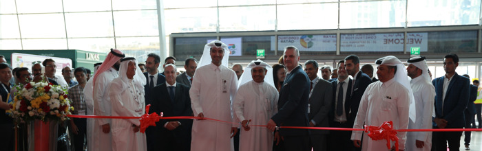 HIS EXCELLENCY MR ALI BIN AHMED AL KUWARI THE MINISTER OF COMMERCE AND INDUSTRY OPENS THE SECOND EDITION OF THE BIG 5 CONSTRUCT QATAR