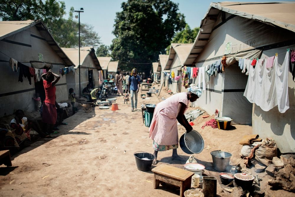 MSF159634<br/>General view of a displaced persons camp in Benzvi, Bangui.