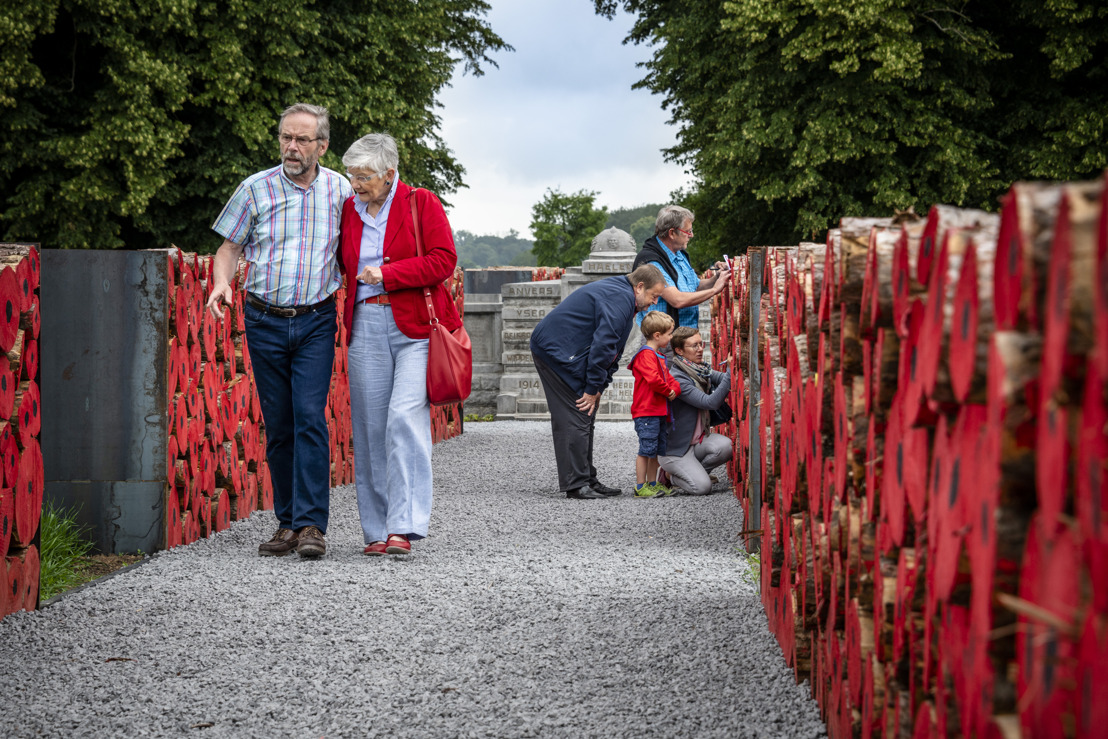 Klaprozen toveren Panquinkazerne in Tervuren om tot vredessite