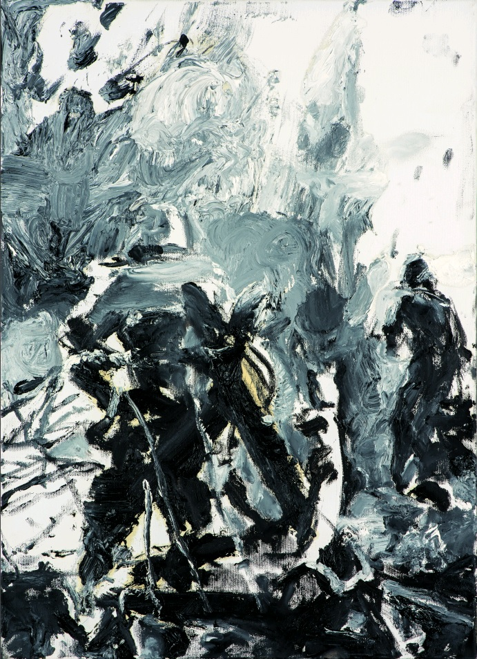Two German soldiers, 70 x 50 cm, oil on canvas