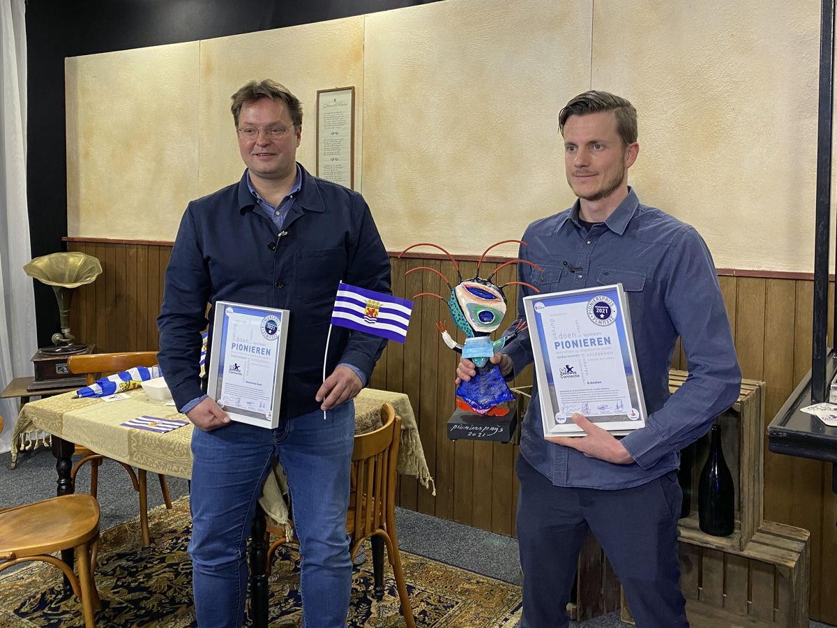 Christian Clerx (Zeeuwsche Zoute) - PublieksWinnaar 2021 & Jermo de Lange (Q-Aviation) - winnaar Zeeuwse PioniersPrijs 2021