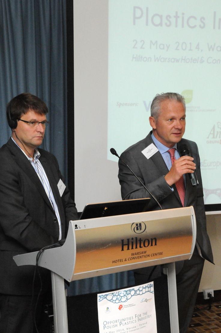 Alexandre Dangis, Managing Director EuPC & Tadeusz Nowicki, president PUPC