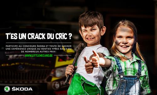 ŠKODA Belgique invite des mécanos en herbe au Renties Ypres Rally