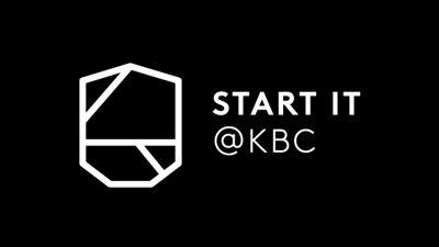Start it @kbc logo -  White on black background